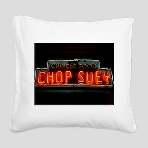Chop Suey!! Square Canvas Pillow