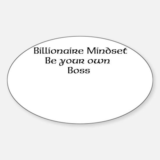 Billionaire Mindset Decal