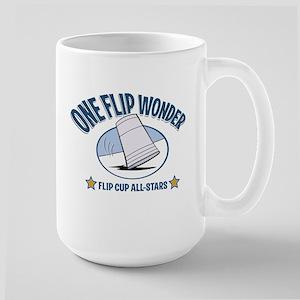 flip cup Large Mug