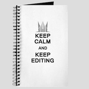 Keep Calm and Keep Editing Journal