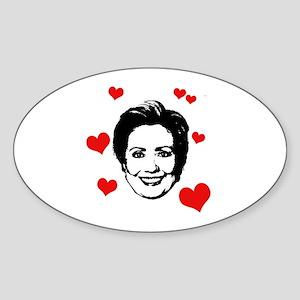 Hillary Clinton Oval Sticker