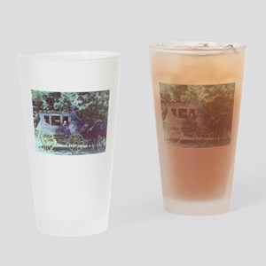 horse and buggy Columbia Drinking Glass