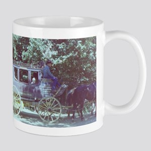 horse and buggy Columbia Mugs