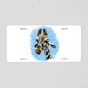 Giraffe Aluminum License Plate