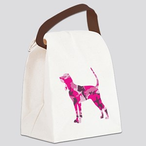 BLACK AND TAN COONHOUND Canvas Lunch Bag