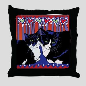 I love my Tuxedo Cats Throw Pillow