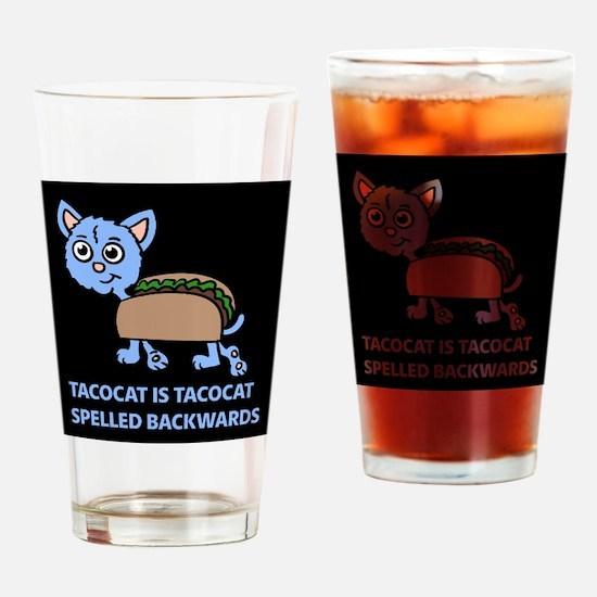 Tacocat is Tacocat spelled backwards Drinking Glas