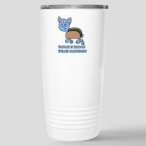 Tacocat is Tacocat spelled backwards Travel Mug