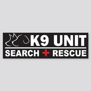 K9 Unit Search Rescue Bumper Sticker
