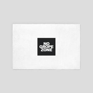 NO GROPE ZONE 4' x 6' Rug