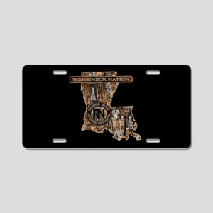 Louisiana Rig Up Camo Aluminum License Plate