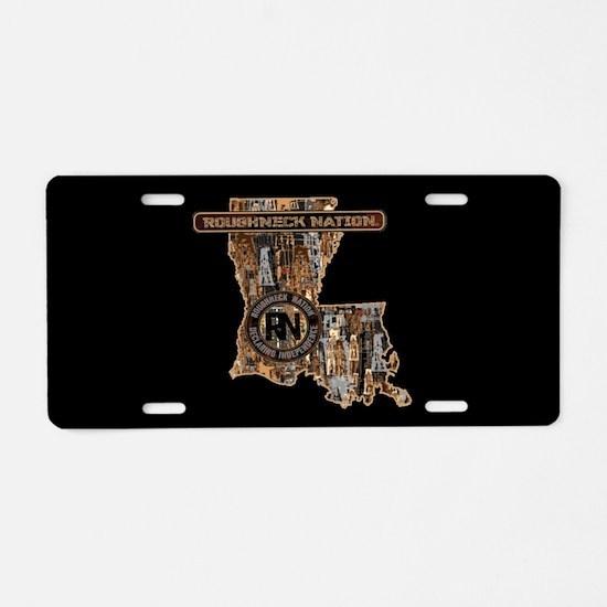 Louisiana Rig Up Camo Aluminum License Plate