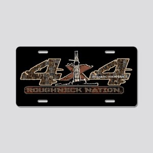 4x4 Rig Up Camo Oilfield Aluminum License Plate