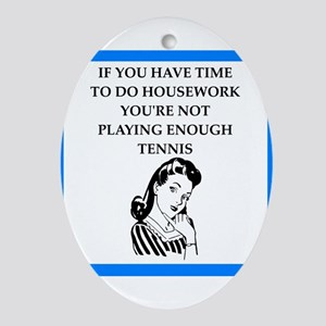 tennis Oval Ornament