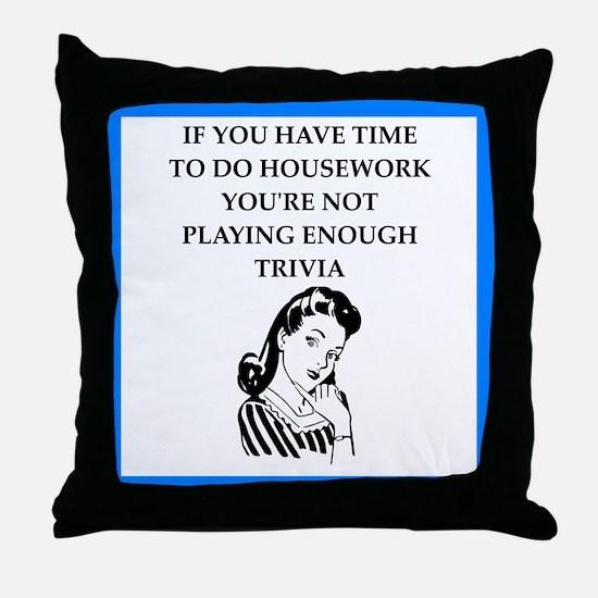 trivia Throw Pillow
