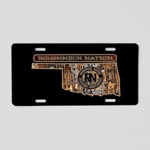 Oklahoma Rig Up Camo Aluminum License Plate