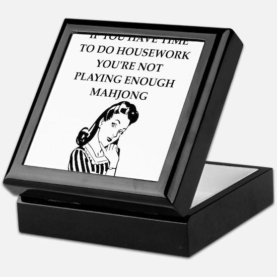housework joke Keepsake Box