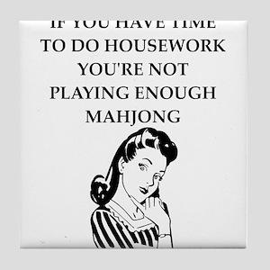 housework joke Tile Coaster