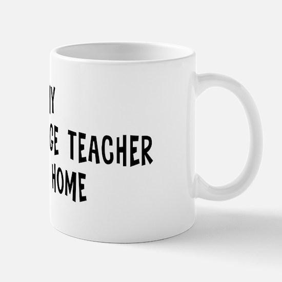 Left my Foreign Language Teac Mug
