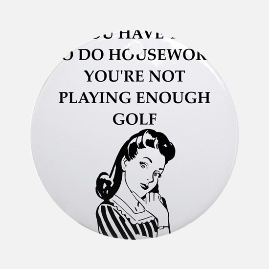 golfer Round Ornament