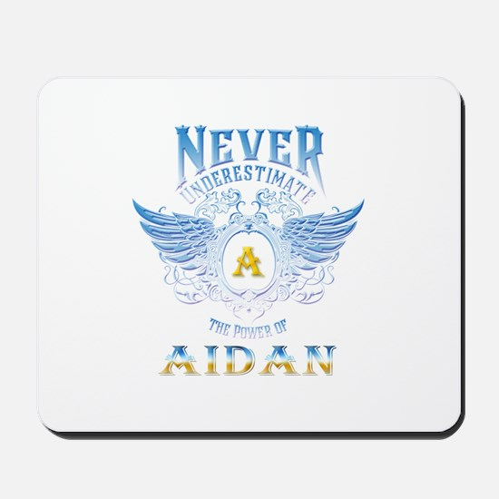 Never underestimate the power of aidan Mousepad