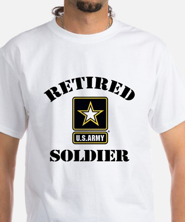 Retired U.S. Army Soldier White T-Shirt