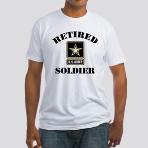 Retired U.S. Army Soldier Fitted T-Shirt