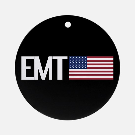EMT: American Flag Round Ornament