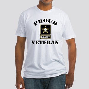 Proud U.S. Veteran Fitted T-Shirt