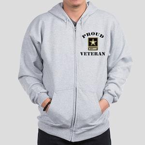 Proud U.S. Veteran Zip Hoodie