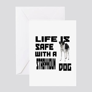 Life Is Safe With A Stabyhoun Dog De Greeting Card
