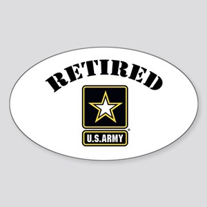 Retired U.S. Army Soldier Sticker (Oval)