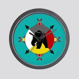 Cherokee Four Directions Bear Wall Clock