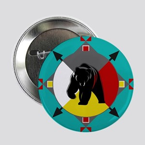 "Cherokee Four Directions Bear 2.25"" Button"