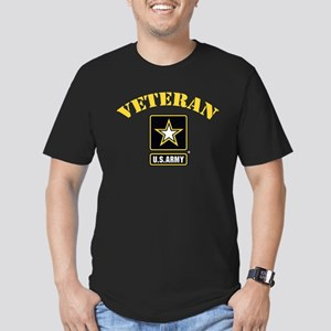 Veteran U.S. Army Men's Fitted T-Shirt (dark)