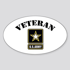 Veteran U.S. Army Sticker (Oval)