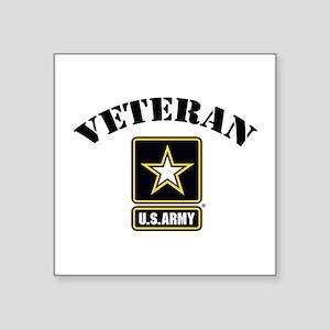 "Veteran U.S. Army Square Sticker 3"" x 3"""