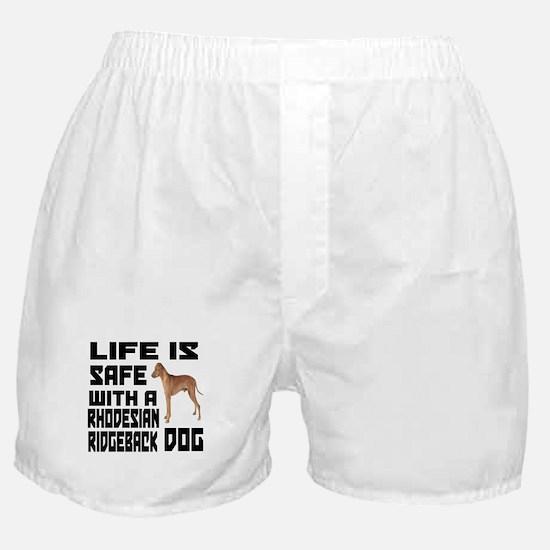 Life Is Safe With ARhodesian Ridgebac Boxer Shorts