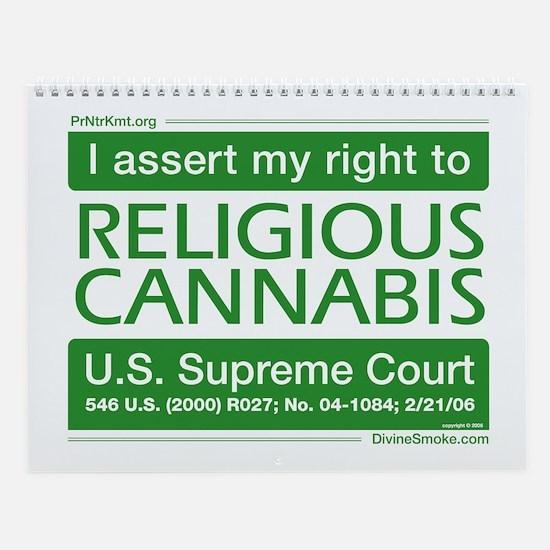 Religious Cannabis Wall Calendar