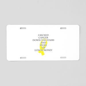 Cancer Bully (Yellow Ribbon) Aluminum License Plat