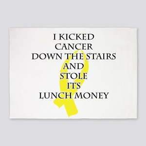 Cancer Bully (Yellow Ribbon) 5'x7'Area Rug
