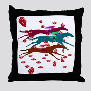Run for the Roses 2016 Throw Pillow