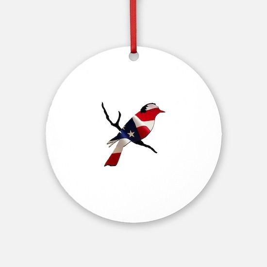 Bernie Bird Round Ornament