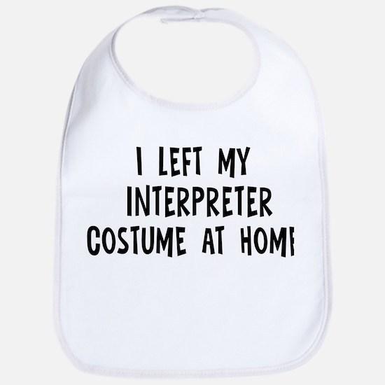 Left my Interpreter Bib