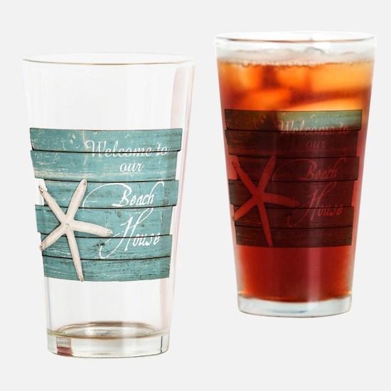 Cute Beach Drinking Glass