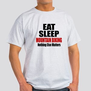 Eat Sleep Mountain Biking Light T-Shirt