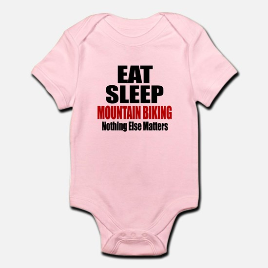 Eat Sleep Mountain Biking Infant Bodysuit