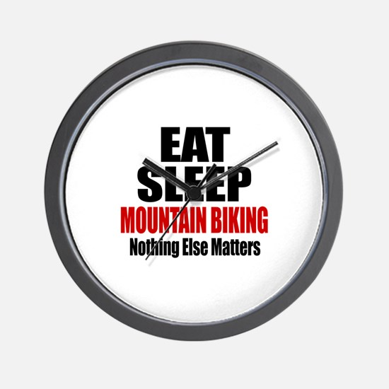 Eat Sleep Mountain Biking Wall Clock