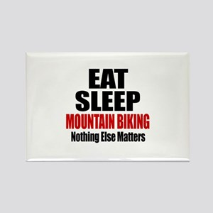 Eat Sleep Mountain Biki Rectangle Magnet (10 pack)