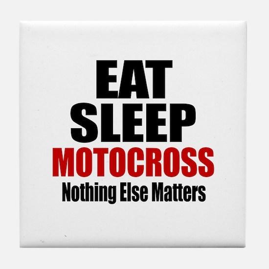 Eat Sleep Motocross Tile Coaster